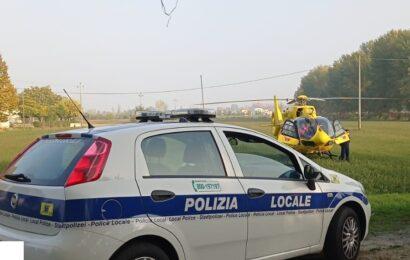 Mirandola / 35enne finisce con l'auto nel fossato, trasportata a Baggiova con l'eliambulanza